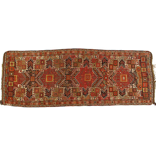 "Antique Soumak Runner, 11'6"" x 4'3"""