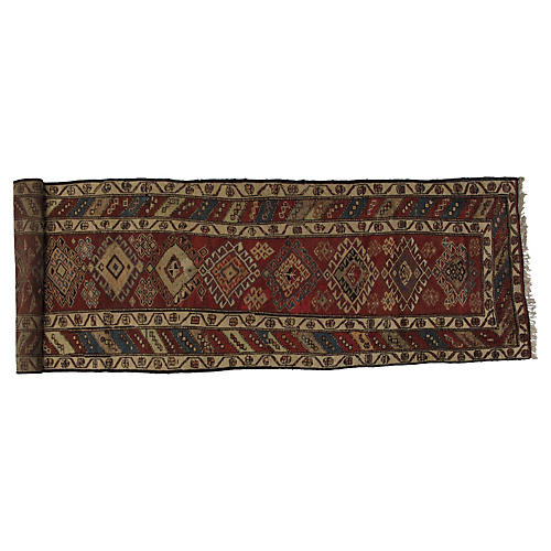 "N. West Persian Runner, 13'2"" x 3'4"""