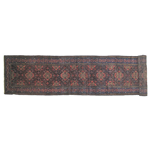 "Antique Malayer Runner, 19'5"" x 3'2"""