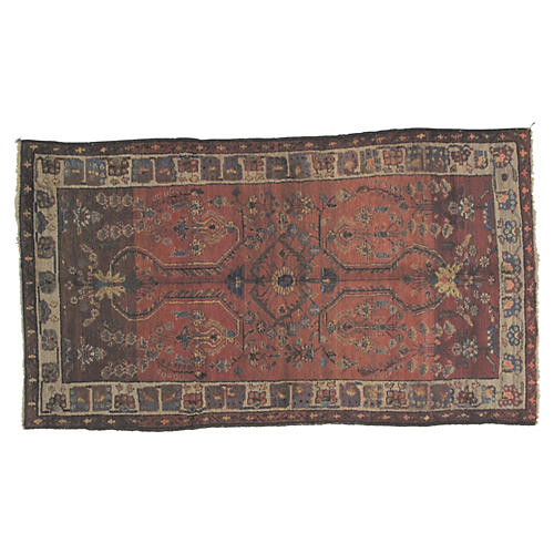 "Antique Hamadan Rug, 6'4"" x 3'8"""