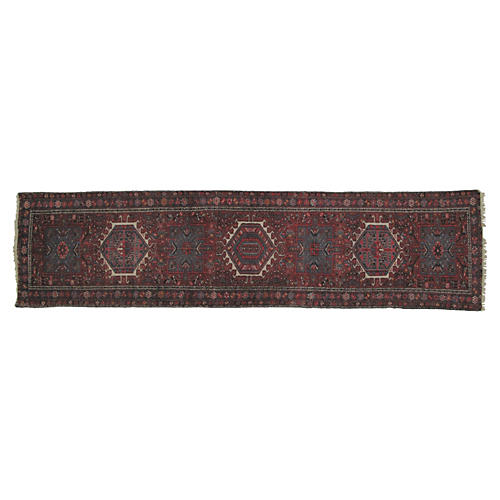 "Persian Heriz Runner, 11'4"" x 3'"