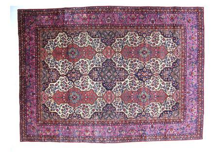 Antique Kork Kashan Rug, 12'1