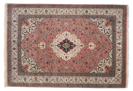 Persian Silk Rug, 6'7