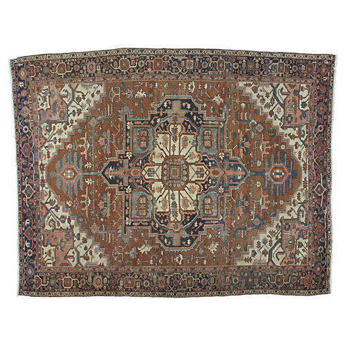 "Antique Serapi Carpet, 12'2"" x 9'7"""