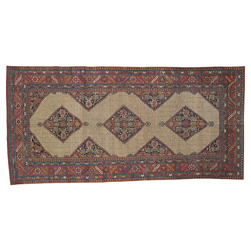"Antique Bakshaish Runner, 11'3"" x 5'10"""