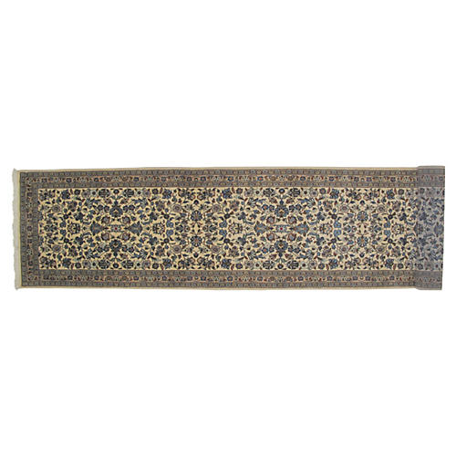 "Persian Kashan Runner, 14'2"" x 3'4"""