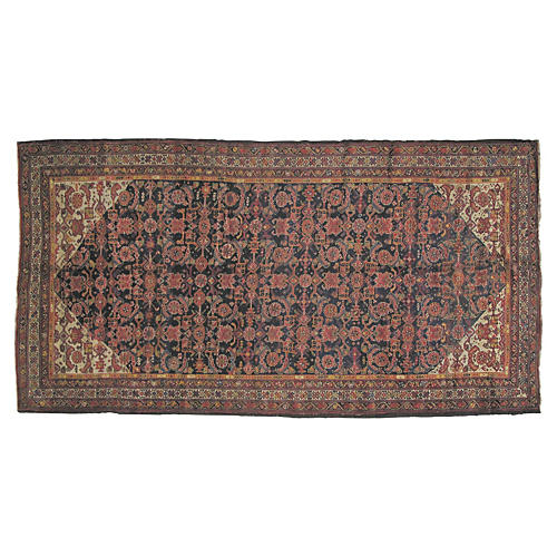 """Antique Bakhtiari Rug, 11' x 5'8"""""""