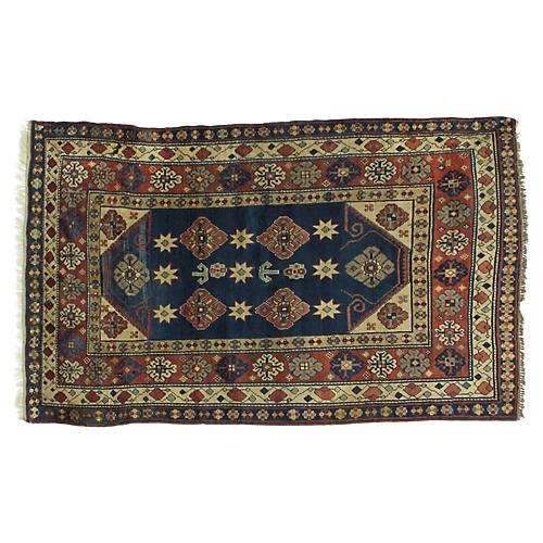 "Antique Karabagh Rug, 4'4"" x 7'"