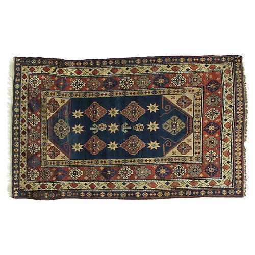 """Antique Karabagh Rug, 4'4"""" x 7'"""
