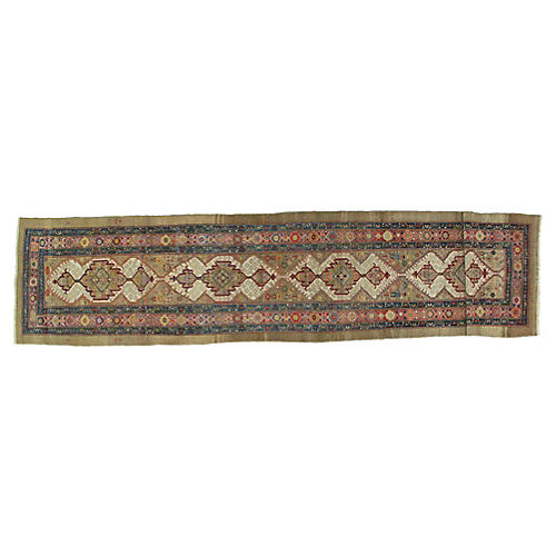 "Antique Bakhshaish Runner, 3'3"" x 14'2"""