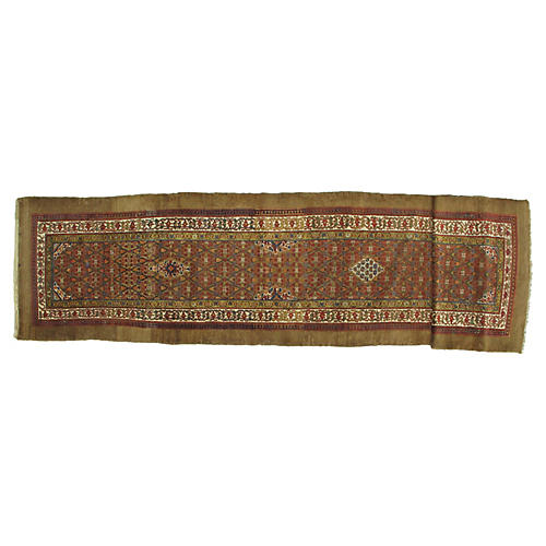 "Antique Sarab Runner, 3'7"" x 15'2"""