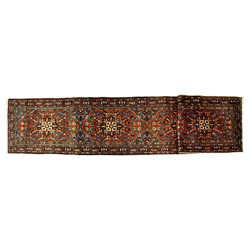 "Antique Heriz Runner, 15'10"" x 3'2"""