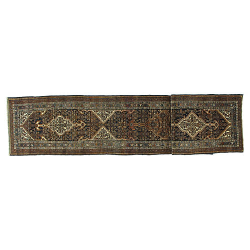 "Antique Bibikabad Runner, 3'2"" x 17'1"""