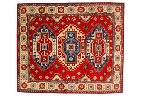 Red Kazak Rug, 8'0