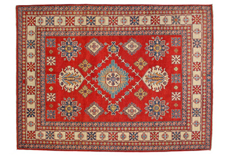 Red Kazak Rug, 8'4