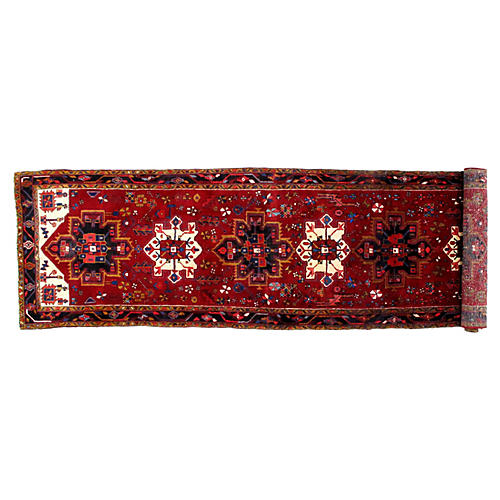 "Persian Heriz Runner, 4' x 14'9"""