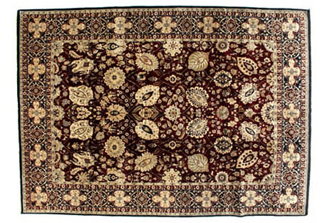 Handwoven Agra Carpet, 8'8