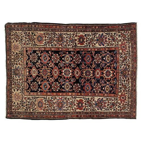 """Antique Persian Rug, 4'2"""" x 5'9"""""""