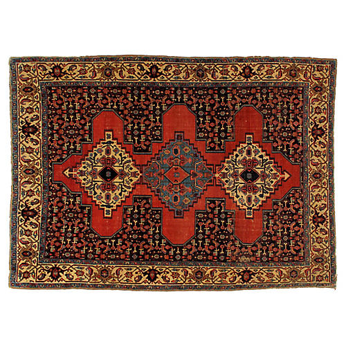 "Antique Malayer Rug, 4'7"" x 6'5"""