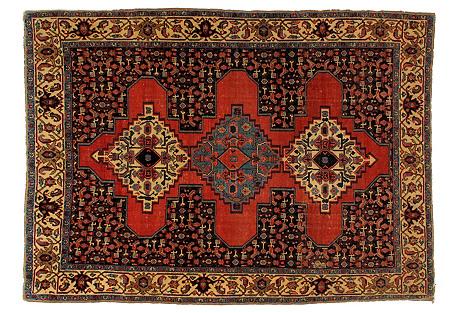 Antique Malayer Rug, 4'7