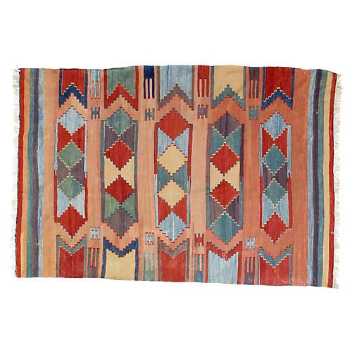 """1970s Anatolian Kilim, 5'5"""" x 8'"""