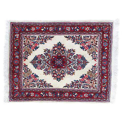 """1970s Persian Sarouk Rug, 2'8"""" x 2'2"""""""