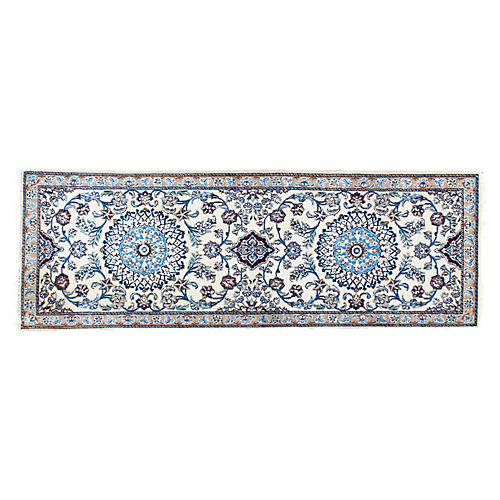 "1970s Persian Nain Runner, 1'6"" x 4'4"""