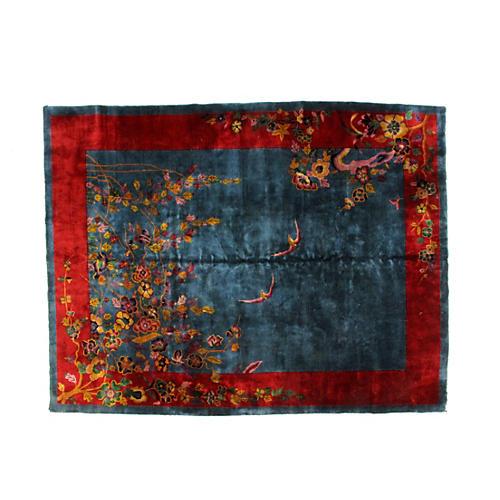 "Antique Chinese Carpet, 11'4"" x 8'9"""