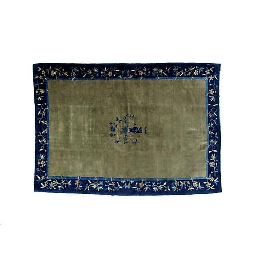 "Antique Chinese carpet, 6'1"" x 8'8"""
