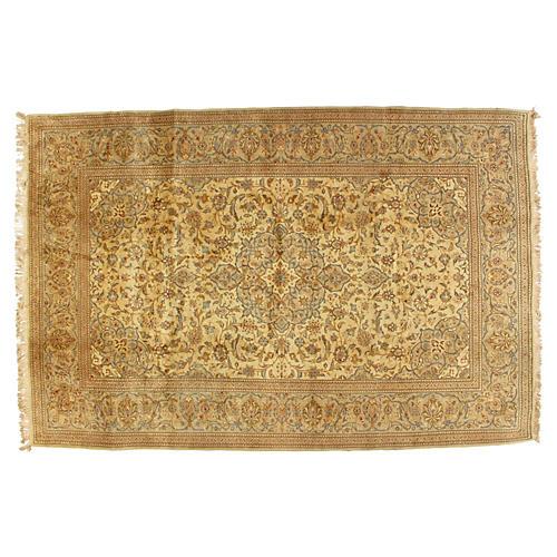 """1970s Persian Kashan Rug, 6'7"""" x 9'10"""""""