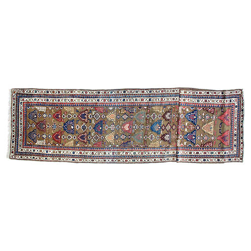 "Antique Bakhshaish Runner, 3'8"" x 16'5"""