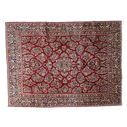 """Persian Sarouk Rug, 8'9"""" x 12'"""