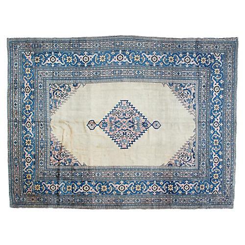 "Antique Khorasan Rug, 9'9"" x 13'1"""