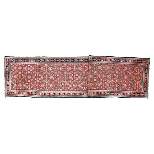 "Antique Karabagh Runner, 3'6"" x 17'"