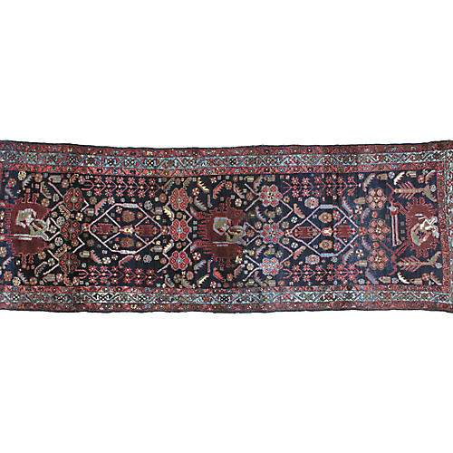 "Antique Malayer Runner, 3'4"" x 10'"