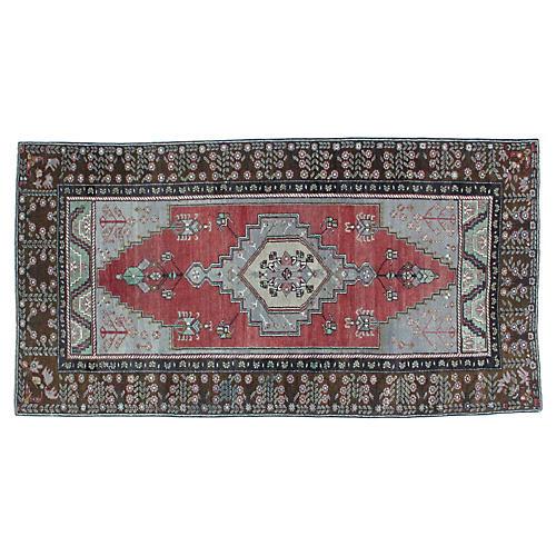 """Anatolian Oushak Rug, 4'1"""" x 8'2"""""""