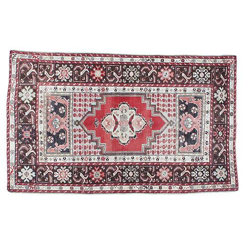 """1960s Anatolian Oushak Rug, 3'5"""" x 5'8"""""""