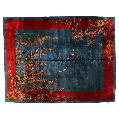 "Antique Chinese Carpet, 8'9"" x 11'4"""