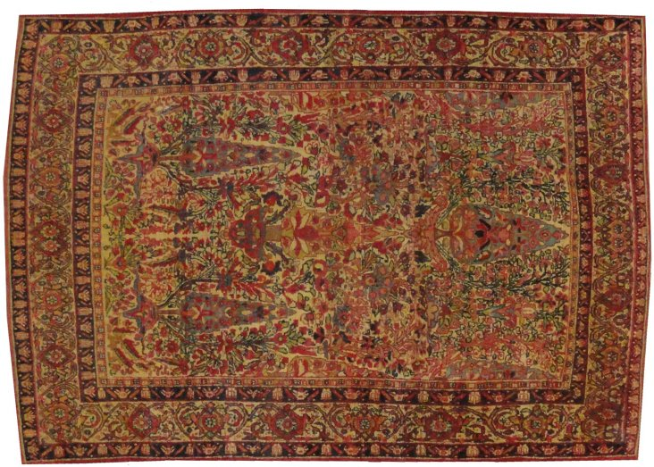 "Antique Persian Lavar, 5'11"" x 4'2"""
