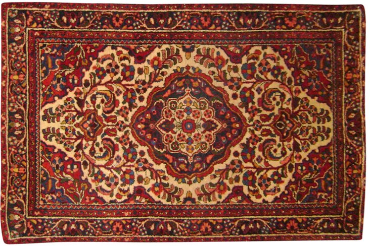 "Antique Persian Malayer, 3'7"" x 5'"