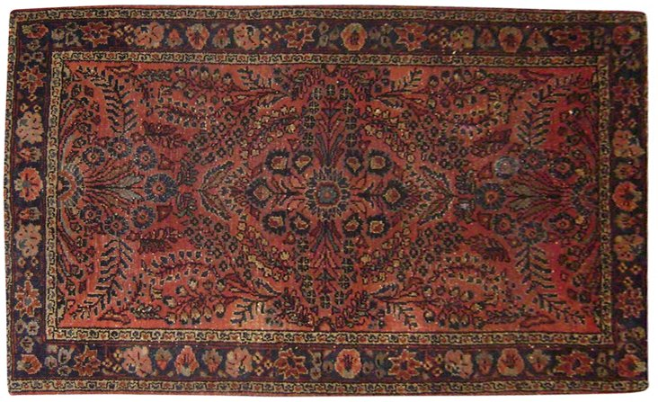 "Antique Persian Lilihan, 3'3"" x 4'9"""