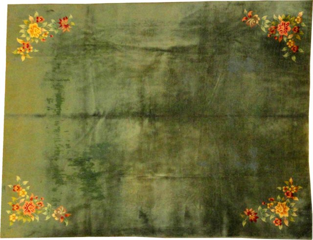 """Antique Chinese Rug, 8'1"""" x 9'7"""""""