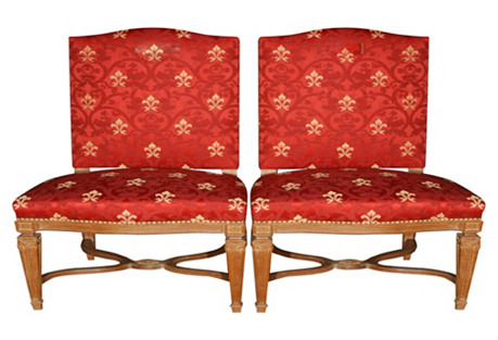 French Louis XVI-Style Chairs by Jansen