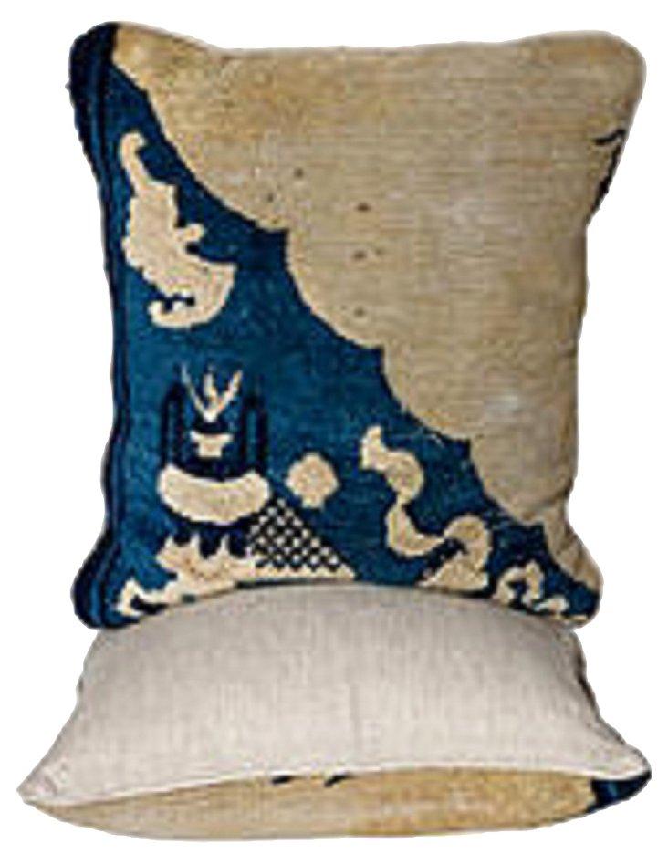 Chinese Carpet Pillows, Pair