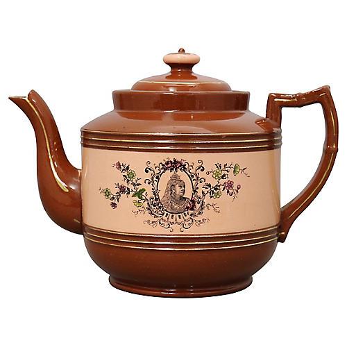 1897 Queen Victoria Terracotta Teapot