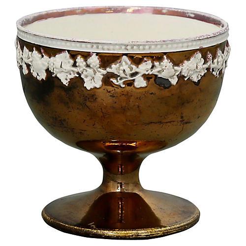 Antique Copper Luster Sugar Dish