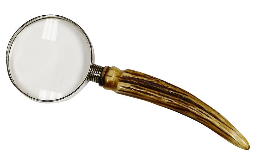Antique Horn Handled Magnifying Glass