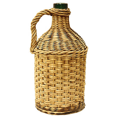 Wicker Wrapped Demijohn Bottle