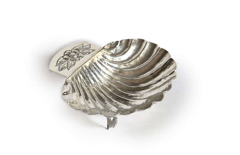 Hand-Made Mexican Sterling Shell Dish