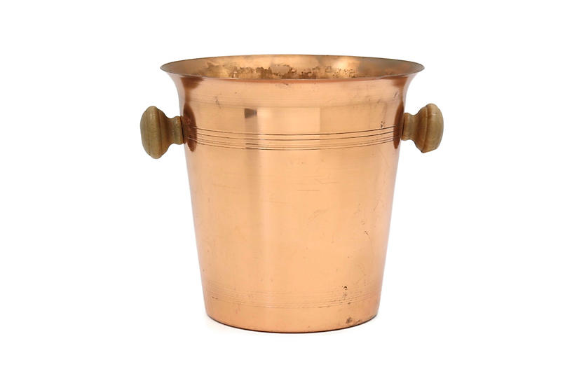 1960s Copper Champagne Bucket